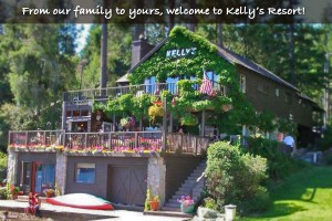 front of kelly's resort