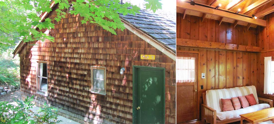Cabin 7 exterior and interior view