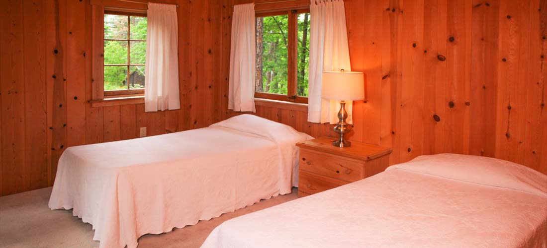 twin beds in cabin