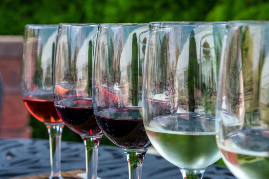 Siren Song Winery glasses
