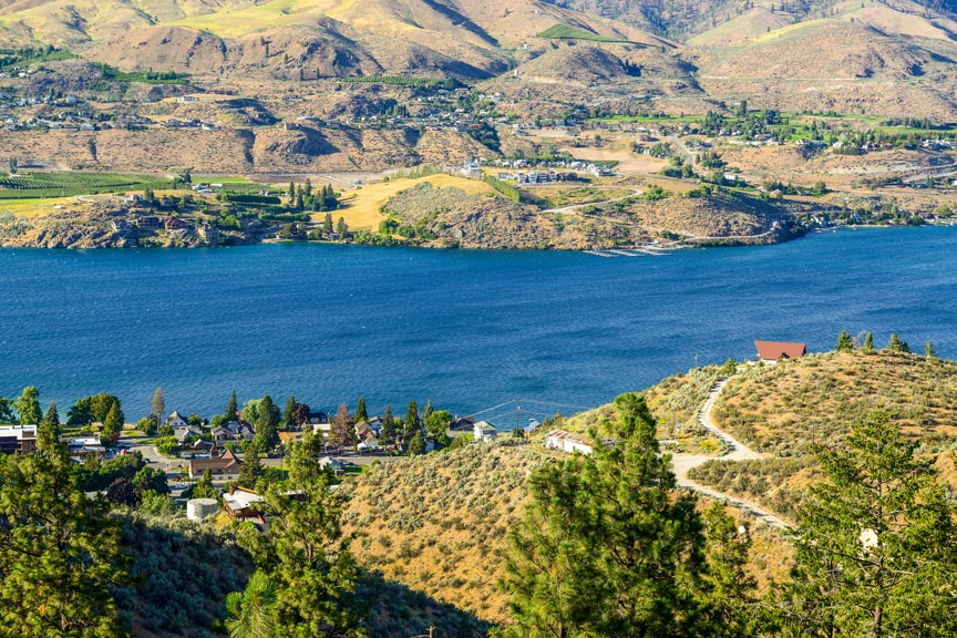 Columbia River seen from above Chelan Butte Trail