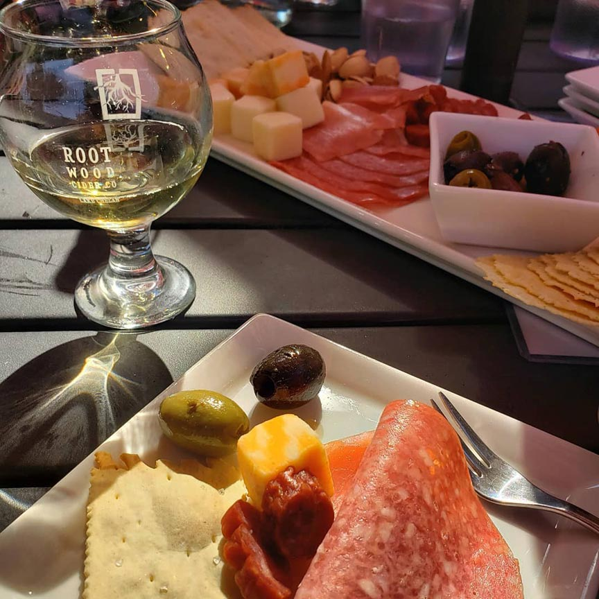 Rootwood Cider charcuterie