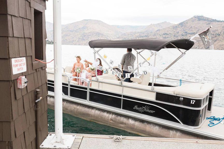 exit your Lake Chelan wedding in style