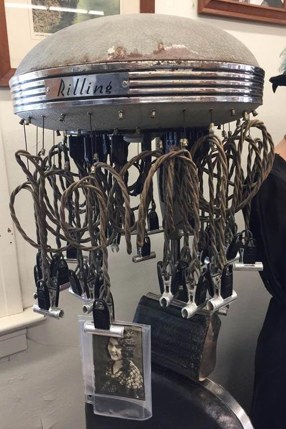 Chelan Museum hair curler